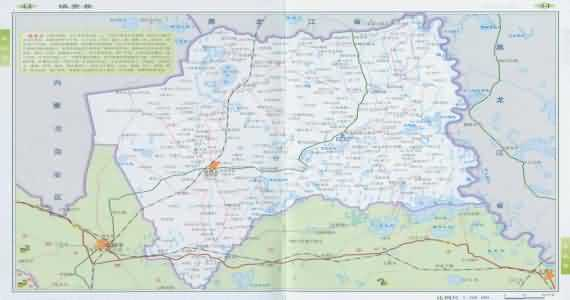 延吉地图 图们地图 敦化地图