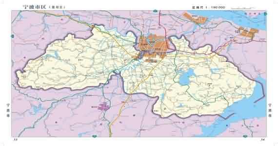 海曙地图 余姚地图 慈溪地图