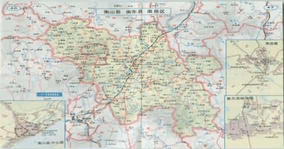 湖南南岳衡山地图内容湖南南岳衡山地图版面设计