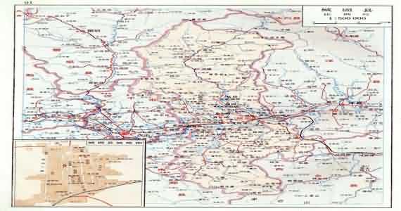 全国地图 陕西省 汉中市